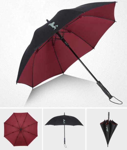 双层防风防晒高尔夫伞,定制logo长柄伞