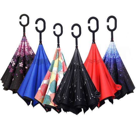 反向伞定做 C型反光安全雨伞