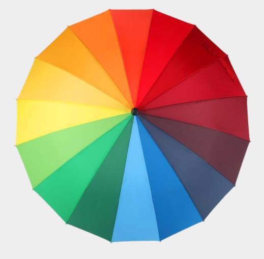 彩虹伞 超大定做16骨雨伞